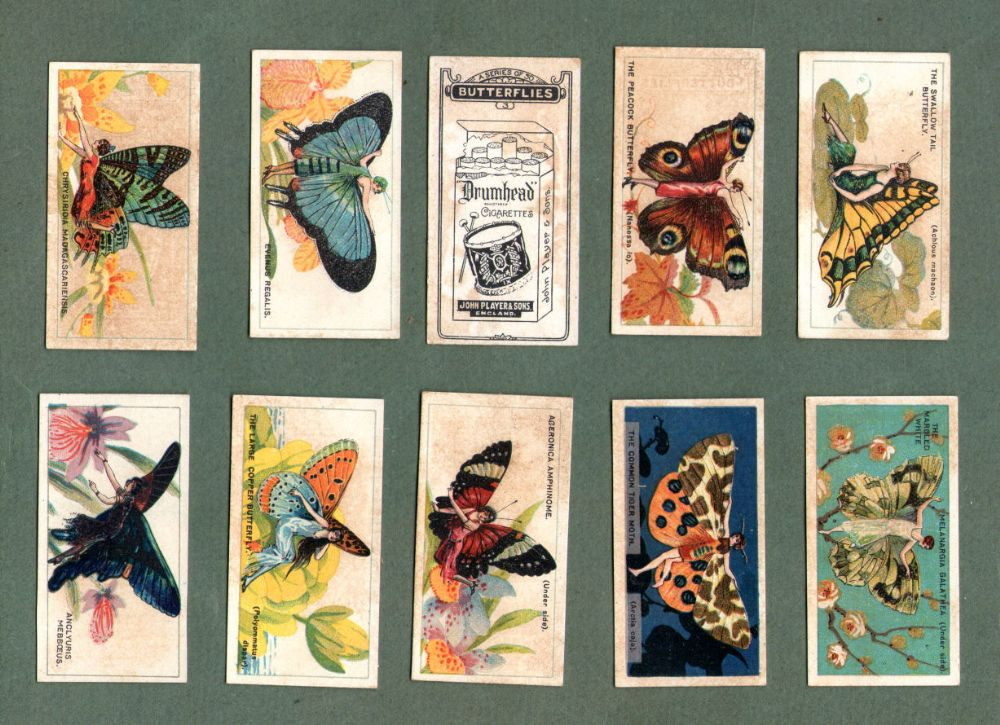 Cigarette Cards Set Butterflies Girls W Butterfly Wings